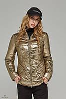 Женская демисезонная стильная куртка К-63 металлик., фото 1