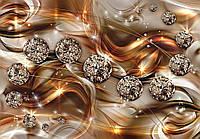 Фотообои бумажные на стену 368х254 см : Золото и диаманты (10576P8CN), фото 1