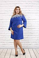 Платье с кружевом на горловине, 42-74 размер