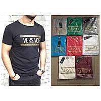 Брендовая модная мужская футболка  VERSACE оптом
