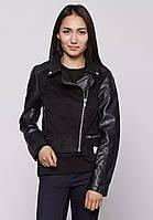 Куртка заменитель женский черный бренда Vila в размерах  XL
