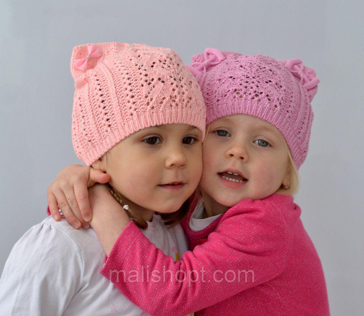 Очень красивая весенне летняя шапка для девочки