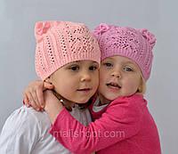 Очень красивая весенне летняя шапка для девочки , фото 1