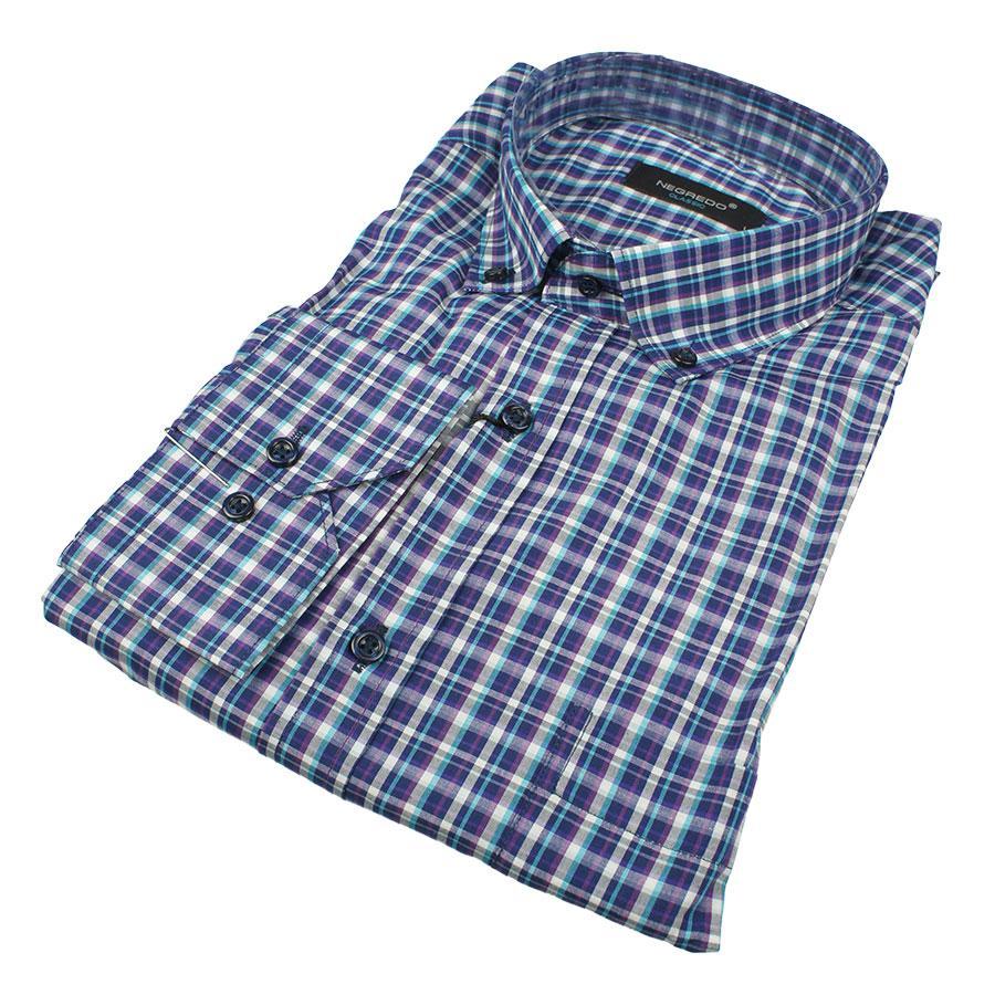 Мужская хлопковая рубашка размер 3XL 0250С