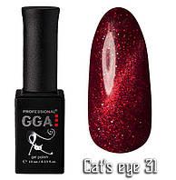 "Гель-лаки GGA Professional ""Кошачий глаз"" №31, 10ml"