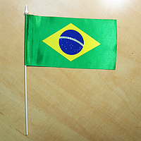 """Прапорець """"Бразилія""""   Прапорці Південної Америки  """