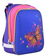 Рюкзак каркасный  1 Вересня 554579 H-12 Butterfly blue, 38*29*15