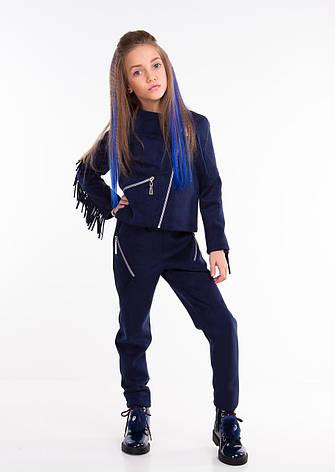 Детская демисезонная куртка-косуха для девочки Мерелин, размеры 116рост, фото 2