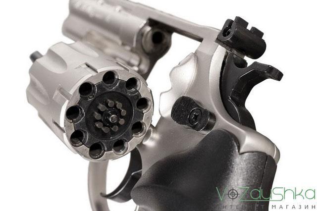 Откинутый барабан револьвера me-38 magnum 4r никель