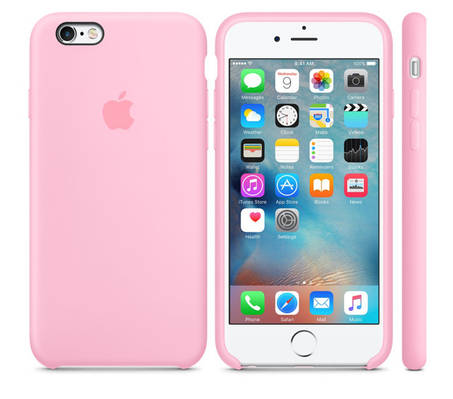 Чехол OEM for Apple iPhone 6/6s Silicone Case Light Pink (MM622)