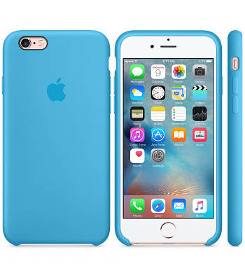 Чехол OEM for Apple iPhone 6/6s Silicone Case Blue (MKY52)