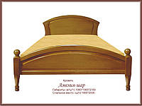"""Ліжко з натурального дерева """"Амелія Куля"""" 900 х 2000, фото 1"""