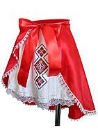 Комбинированная вышитая юбка для девочки
