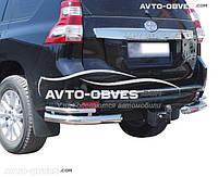 Защита заднего бампера для Toyota Prado 150, углы двойные