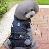 """Комбинезон джинсовый теплый """"Стиляга"""", толстовка для собаки. Одежда для собак , фото 2"""