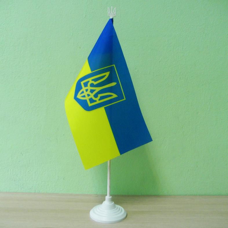 """Флажок """"Украина"""" / """"Україна"""" на подставке"""