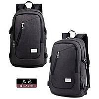 Городской рюкзак для ноутбука. Черный.