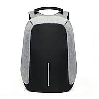 Городской рюкзак XD Design Bobby Анти-вор, с USB зарядкой. Серый.