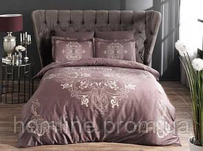 Постельное белье Pierre Cardin сатин Hermes фиолетовое двухспального евро размера