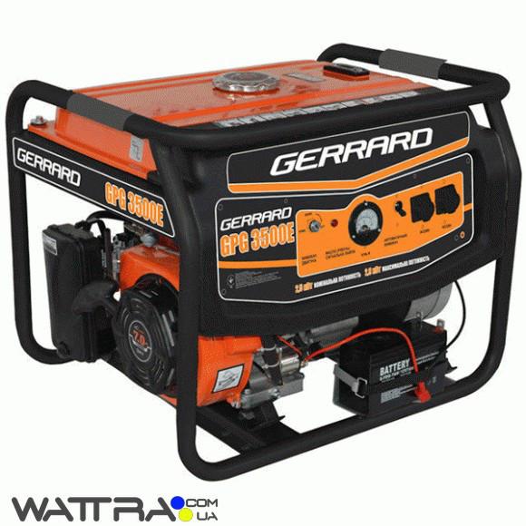 ⭐ Електрогенератор (2.5 кВт) Gerrard GPG 3500Е бензиновий (1ф) (генератор напруги)