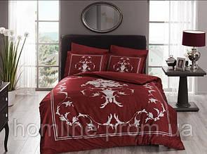 Постельное белье Pierre Cardin сатин Kalista красное двухспального евро размера