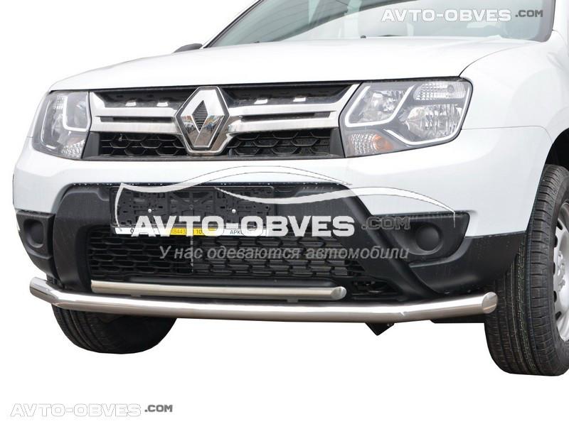 Передняя защита для Dacia Duster 2010-2017 прямой ус (п.к. ТТК)