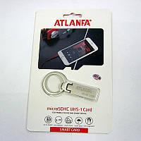 Флешка  16Gb ATLANFA AT-U2 метал.с кольцом РАСПРОДАЖА