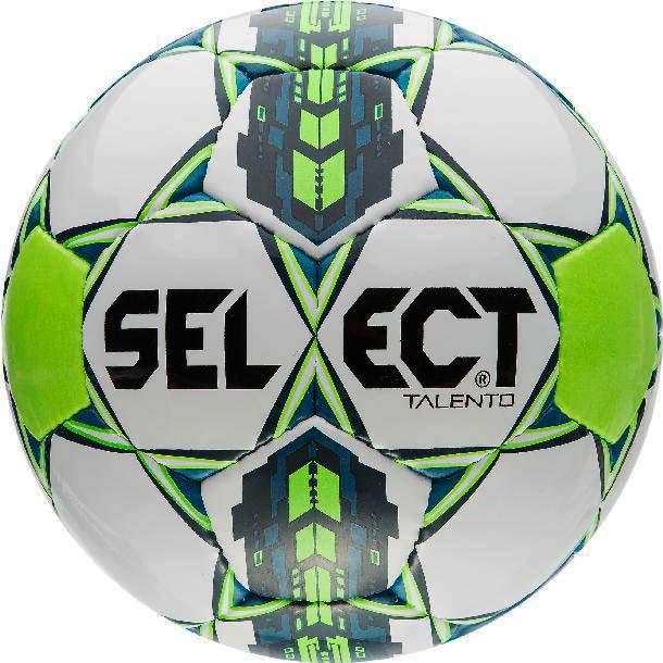 Футбольный мяч Select Talento размер 4 бело-сине-зеленый