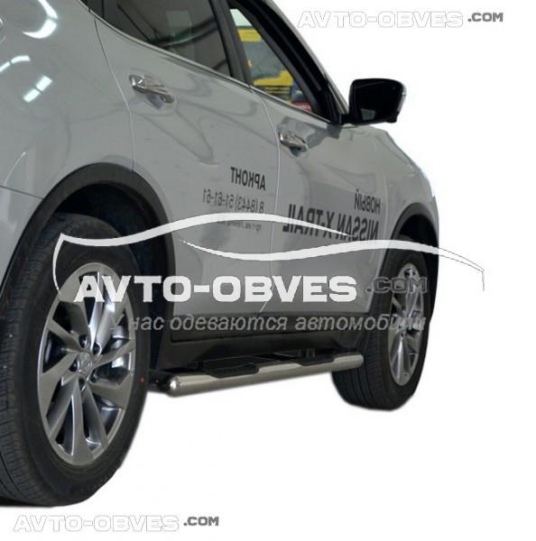 Труби бічні з накладками для Nissan X-Trail t32 2014-..., Ø 60 мм