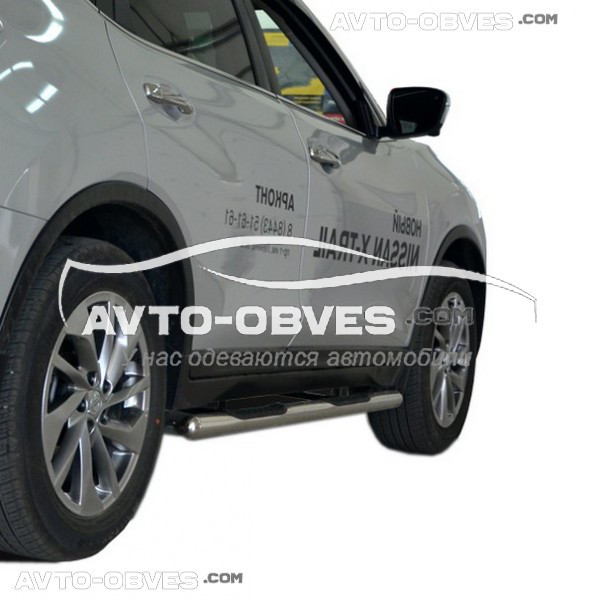 Трубы боковые с проступью для Nissan X-Trail t32 2014-…, Ø 60 мм