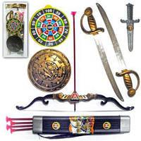 Пиратский набор - 2 меча, щит, нож, лук, стрелы