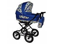 Класическая коляска без прогулочного блока Anmar Carmina синя