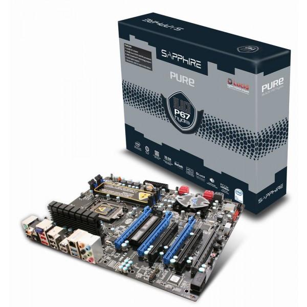 "Материнская плата Sapphire Pure Black P67 Hydra s.1155 DDR3  ""Over-Stock"""