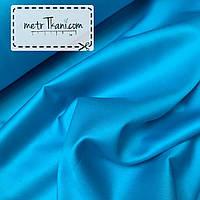 Сатин премиум светло-бирюзовый цвет, ширина 240 см № ПС-0011