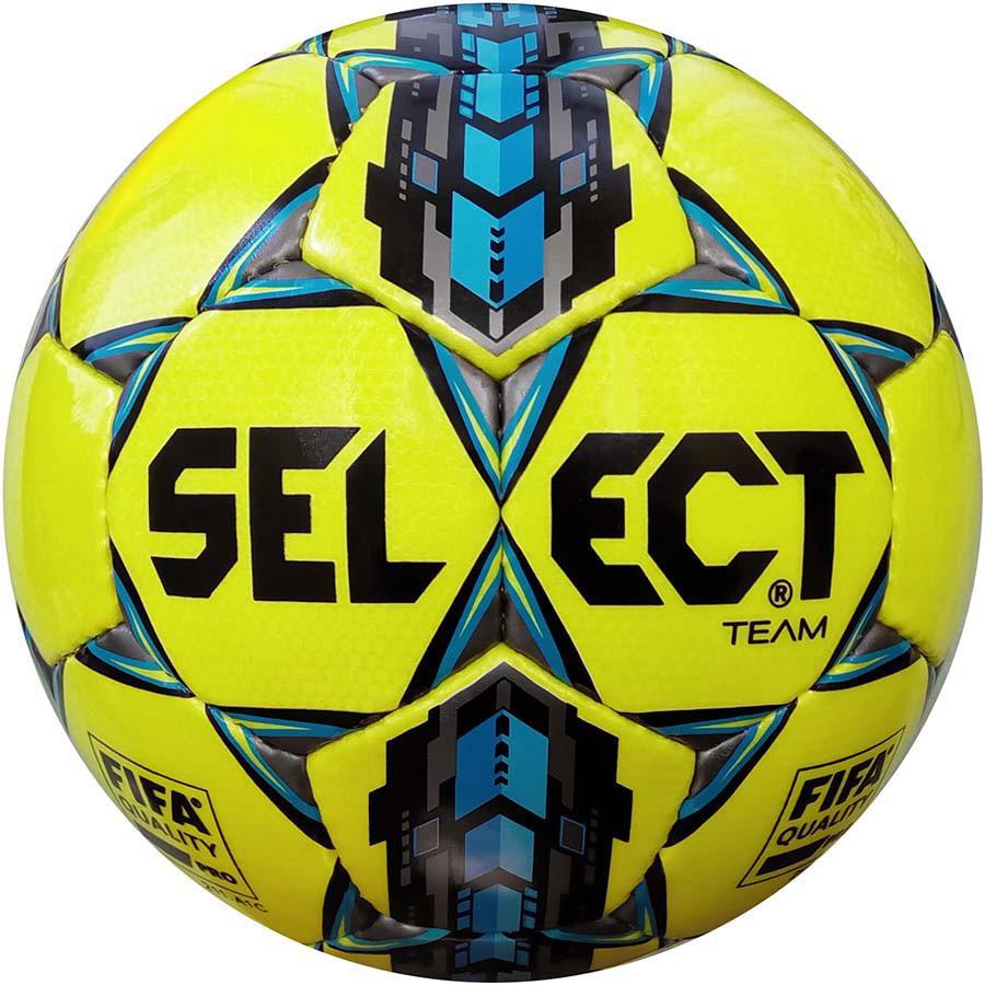 Футбольный мяч Select Team FIFA размер 5 желтый