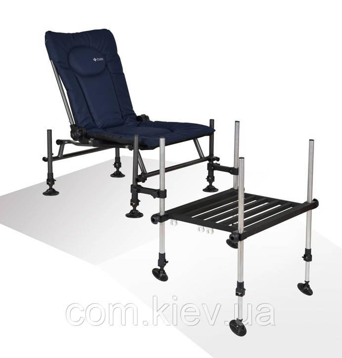 Фидерное кресло Cuzo F2 + педана (подставка для ног) Elektrostatyk. Упаковка бесплатная