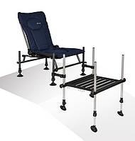 Фидерное кресло Cuzo F2 + педана (подставка для ног) Elektrostatyk