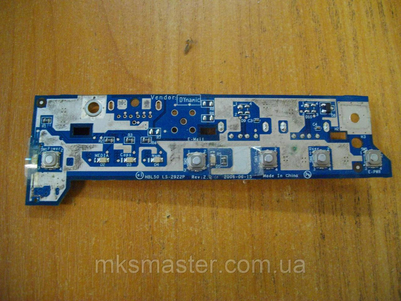 Плата с кнопками и индикацией USB LS-2922P Acer Aspire 5100 BL51