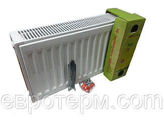 Стальной радиатор Terra teknik 22k 300*900 боковое подключение