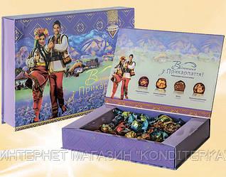 """* Шоколадные наборы конфет """"Вітання з Прикарпаття"""""""