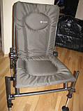 Фидерное кресло Cuzo F2 + педана (подставка для ног) Elektrostatyk. Упаковка бесплатная, фото 3