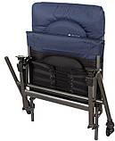 Фидерное кресло Cuzo F2 + педана (подставка для ног) Elektrostatyk. Упаковка бесплатная, фото 4