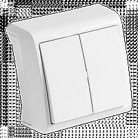 Выключатель 2-й Белый накладной Vera Viko, 90681002