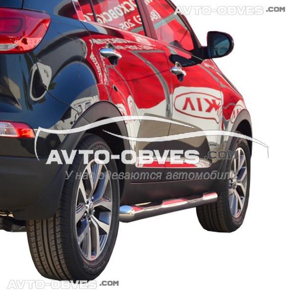 Подножки боковые трубы для Kia Sportage