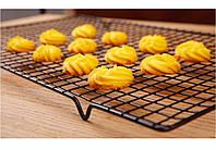 Решетка для глазирования тортов и охлаждения десертов большая черная, фото 1