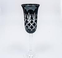 Набор бокалов для шампанского из цветного хрусталя Julia FS6618 (6 штук/180 мл, черные)