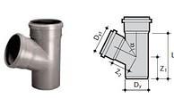Тройник для канализации 32 мм 67 градусов WAVIN