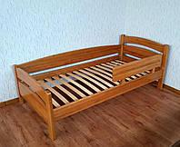 """Кровать с защитным бортиком """"Марта"""" (190\200*90). Массив - береза. Палитра - 10 цветов на выбор."""