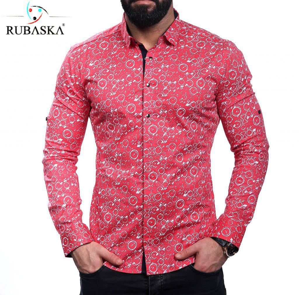 981d198aff68621 Стильная мужская рубашка с оригинальным рисунком - Интернет-магазин