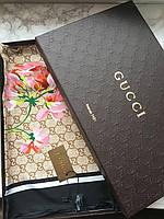 Платок Gucci логотип фирменный Италия шелк